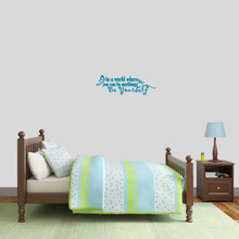 """Be Yourself Wall Decal 24"""" wide x 8"""" tall Sample Image"""