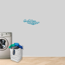 """Laundry Room Drop Your Drawers Wall Decal 24"""" wide x 9"""" tall Sample Image"""