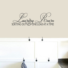 "Laundry Room Sorting Out Life Wall Decals 36"" wide x 11"" tall Sample Image"