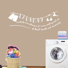 "Laundry Sand Out Of Swimsuits Wall Decals 60"" wide x 22"" tall Sample Image"