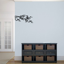 """Corner Leafy Branch Wall Decals 22.5"""" wide x 10"""" tall Sample Image"""