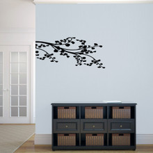 """Corner Leafy Branch Wall Decals 36"""" wide x 16"""" tall Sample Image"""