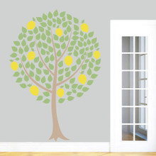 """Lemon Tree Printed Wall Decals 50"""" wide x 72"""" tall Sample Image"""