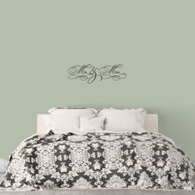 "Mr. & Mrs. Wall Decal 36"" wide x 12"" tall Sample Image"