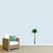 """Palm Tree Wall Decal 14"""" wide x 36"""" tall Sample Image"""