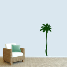 """Palm Tree Wall Decal 22"""" wide x 60"""" tall Sample Image"""