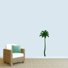 """Palm Tree Wall Decal 18"""" wide x 48"""" tall Sample Image"""