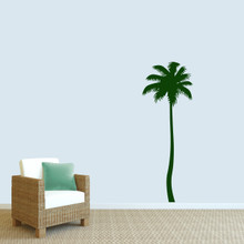 """Palm Tree Wall Decal 26"""" wide x 72"""" tall Sample Image"""