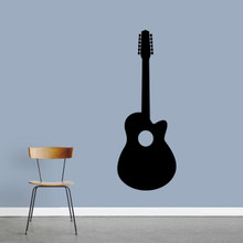 "Classic Guitar Wall Decal 22"" wide x 60"" tall Sample Image"