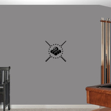 """Pool Billiards Wall Decals 14"""" wide x 14"""" tall Sample Image"""
