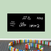 """Chalkboard Rectangle Wall Decals 48"""" wide x 23"""" tall Sample Image (writing not included)"""