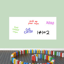 """Dry Erase Rectangle Wall Decals 48"""" wide x 23"""" tall Sample Image (writing not included)"""
