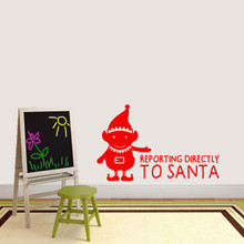 """Elf Reporting Directly to Santa Wall Decal 48"""" wide x 30"""" tall Sample Image"""