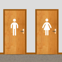 Men's and Women's Restroom Wall Decals Large Sample Image
