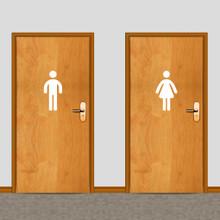 Men's and Women's Restroom Wall Decals Medium Sample Image