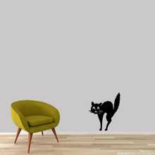 "Scaredy-Cat Wall Decal 20"" wide x 24"" tall Sample Image"