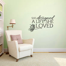 """A Life She Loved Wall Decals 36"""" wide x 22"""" tall Sample Image"""