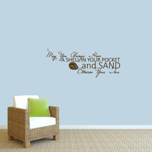 """A Shell In Your Pocket Wall Decal 36"""" wide x 14"""" tall Sample Image"""