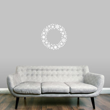 "Snowflake Wreath Wall Decal 22"" wide x 22"" tall Sample Image"