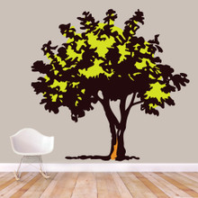 """Storybook Tree Printed Wall Decals 75"""" wide x 72"""" tall Sample Image"""