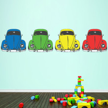 Colorful Cars Printed Wall Decals Large Sample Image