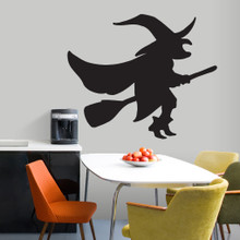 Witch On A Broom Wall Decals and Wall Stickers