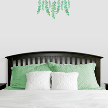"Hanging Eucalyptus Printed Wall Decals 24"" wide x 14"" tall Sample Image"