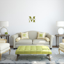 """Custom Name Banner And Monogram Wall Decal 12"""" wide x 9"""" tall Sample Image"""