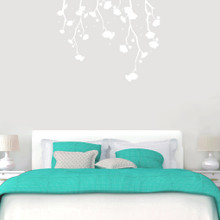 """Hanging Flowers Wall Decals 48"""" wide x 38"""" tall Sample Image"""