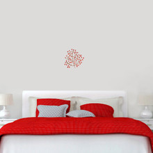 "Red Berry Branch Printed Wall Decals 12"" wide x 12"" tall Sample Image"