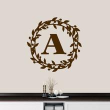 "Custom Berry Wreath Monogram Wall Decal 30"" wide x 30"" tall Sample Image"