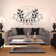 Custom Wreath Banner Wall Decals and Stickers