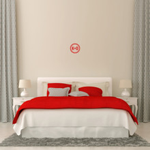 "Custom Circle Initials Wall Decal 6"" wide x 6"" tall Sample Image"