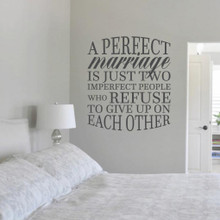 """A Perfect Marriage Wall Decal 31"""" wide x 36"""" tall Sample Image"""