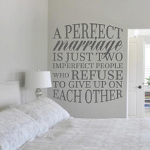 """A Perfect Marriage Wall Decal 42"""" wide x 48"""" tall Sample Image"""