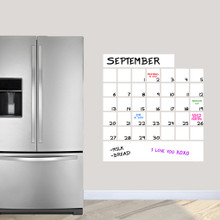 """Dry Erase Calendar Wall Decals 30"""" wide x 32"""" tall Sample Image"""