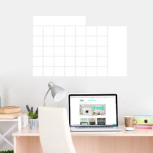 """Dry Erase Calendar Wide Wall Decals 30"""" wide  x 20"""" tall Sample Image"""