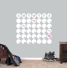 "Dry Erase Circle Calendar Wall Decals 30"" wide x 25.5"" tall Sample Image"