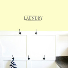 "Laundry Wall Decals 12"" wide x 3"" tall Sample Size"