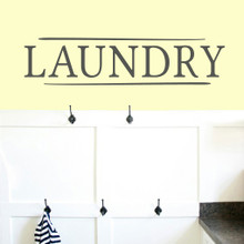 "Laundry Wall Decals 36"" wide x 8.5"" tall Sample Size"