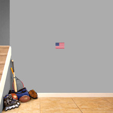 """American Flag Printed Wall Decal 6"""" wide x 4"""" tall Sample Image"""