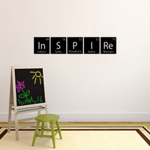 """Inspire Periodic Table Wall Decal 48"""" wide x 9"""" tall Sample Image"""