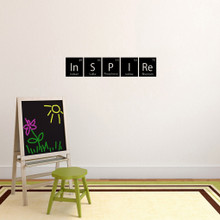 """Inspire Periodic Table Wall Decal 36"""" wide x 7"""" tall Sample Image"""