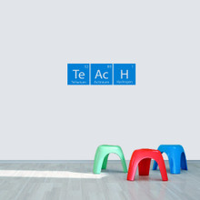 "Teach Periodic Table 24"" wide x 7.5"" tall  Sample Image"