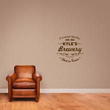 "Custom Brewery Bar Wall Decal 22"" wide x 22"" tall Sample Image"