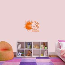 "Custom Basketball Breaking Wall Wall Decal 24"" wide x 18"" tall Sample Image"