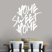 """Home Sweet Home Wall Decal 44"""" wide x 48"""" tall Sample Image"""