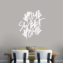 """Home Sweet Home Wall Decal 33"""" wide x 36"""" tall Sample Image"""