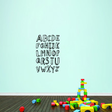 """Alphabet Doodle Wall Decals 22"""" wide x 36"""" tall Sample Image"""