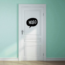 Hello Word Bubble Wall Decal Sample Image